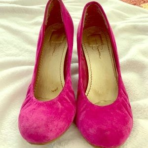 Jessica Simpson suede shoes
